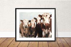 Cow Painting, Cow Art, Cow PRINT - Cow Oil Painting, Holstein Cow, Farm Animal Art, Farmhouse Art, Prints of Farm Animals, Farm Wall Art by JamesCoatesFineArt2 on Etsy Swan Painting, Couple Painting, Cow Painting, Couple Art, Pictures To Paint, Dog Pictures, Holstein Cows, Dog Poster, Cow Art
