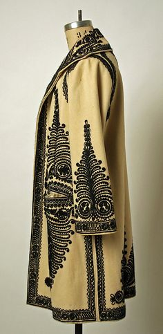Coat Date: early century Culture: Romanian Medium: wool Dimensions: Length at CB: 40 in. Vintage Dresses, Vintage Outfits, Vintage Fashion, Folk Costume, Historical Clothing, Traditional Dresses, Timeless Fashion, Fashion Dresses, Style Inspiration