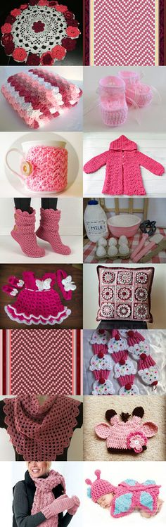 Pink Crochet by Jennifer Taylor on Etsy--Pinned with TreasuryPin.com