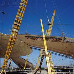 Interior Construction Of The Millennium Dome Greenwich