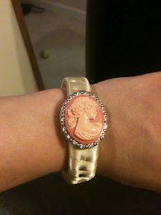 Upcycled cuff bracelet!!!!!