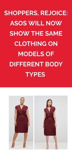 Shoppers, Rejoice: ASOS Will Now Show the Same Clothing on Models of Different Body Types  | This is going to make online shopping so much easier.