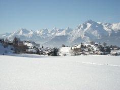 Neige immaculée à l'Espace Mont-Noble à Nax