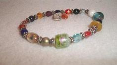 colorful beaded LIVE bracelet by ALEXLITTLETHINGS on Etsy, $14.00