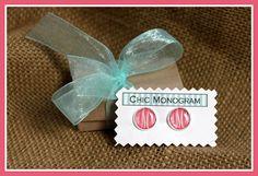 Monogrammed Earrings Monogrammed Gifts Monogrammed by ChicMonogram