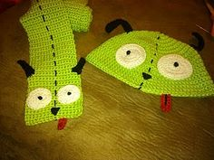 GIR scarf - Free crochet pattern - Easily figure out how to make the hat if you…