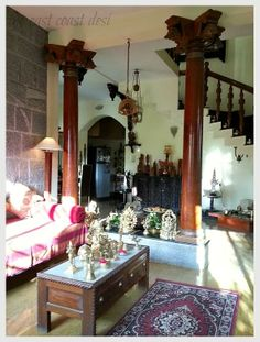 the east coast desi: The Collected Home (Singhs' Home Tour) Ethnic Home Decor, Indian Home Decor, Moroccan Decor, Diy Home Decor, Indian Decoration, Art Decor, Home Interior, Interior Design, Wooden Pillars
