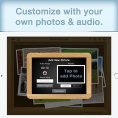 If the over 700 included images isn't enough, you can customize SpeechBox for Articulation Speech Therapy by adding your own photos and audio. Speech Therapy, New Pictures, Audio, App, Words, Photos, Image, Speech Pathology, Speech Language Therapy