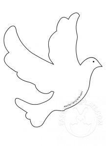 beyaz güvercin boyama sayfası ile ilgili görsel sonucu