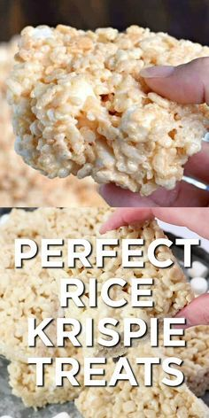 the secret tips and tricks to making the most PERFECT Rice Krispie Treats. K Get the secret tips and tricks to making the most PERFECT Rice Krispie Treats. -Get the secret tips and tricks to making the most PERFECT Rice Krispie Treats. Köstliche Desserts, Delicious Desserts, Dessert Recipes, Yummy Food, Deep Fried Desserts, Southern Desserts, Quick Dessert, Bar Recipes, Fudge Recipes