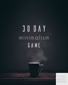 Challenge yourself this holiday season with the 30 day minimalism game!  Declutter over 200 items with me in December :)  #PBBMinGame