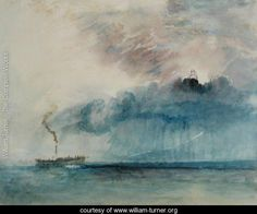 Steamboat in a Storm, c.1841 - Joseph Mallord William Turner - www.william-turner.org