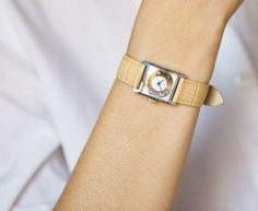 Unused lady's watch gold silver womans watch shimmer  by SovietEra