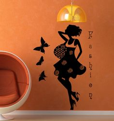 Fashion Girl Woman Wall Decal Vinyl Sticker Wall by CozyDecal, $15.99