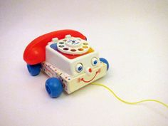 Vintage Fisher Price Chatter Telephone Rotary Dial Phone Vintage Toy ~ My boys had one of these. Jouets Fisher Price, Fisher Price Toys, Vintage Fisher Price, 90s Childhood, My Childhood Memories, Great Memories, Retro Toys, Vintage Toys, Antique Toys