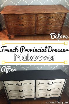 See how I transform this French provincial dresser into something much more beautiful and fitting of my vintage glam aesthetic in my bedroom makeover. I am also teaching my readers how to make their own Chalk Paint! Learn more at Arts & Classy!