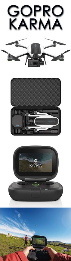 GoPro Karma. Karma captures amazingly smooth GoPro footage in the air, handheld or body mounted. Ultra portable, Karma folds to go anywhere, packed in its own lightweight case. Detach the camera stabilizer and combine it with the included Karma Grip for unbelievably smooth handheld or body-mounted footage.