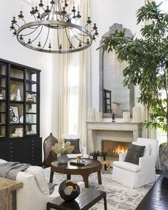 Dramatic ceilings make a serious statement with this chandelier.