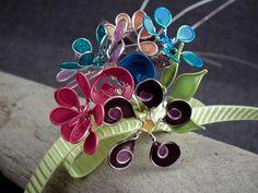 wire nail polish flower bouquet