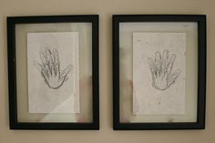 i MUST start doing this now! trace the kids handprint on the same day every year so i can have a sweet keepsake once they are out on their own.