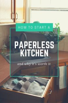 Doable ideas// Starting a paperless kitchen is easy, affordable and wonderfully eco-friendly. Here are some of my best tips for newbies to the idea. Eco Friendly Cleaning Products, Natural Cleaning Products, Green Living Tips, Trend Fashion, Eco Friendly House, Green Building, Sustainable Living, Sustainable Practices, Zero Waste