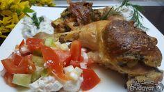 Spenóttal töltött csirkecomb Chicken, Meat, Food, Essen, Meals, Yemek, Eten, Cubs