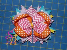 Colorful Boutique Hair Bow made by Shana's Boutique