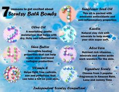 Benefits of Scentsy Bath Bombs www.aleshiaj.scentsy.us