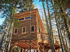 Mont-Tremblant Treehouses for up to 6 guests - Treehouses for Rent in Saint-Faustin-Lac-Carré, Quebec, Canada Mini Chalet, Outside Fire Pits, Chalet Design, La Rive, Refuge, House On The Rock, Vacation Trips, Vacation Ideas, Plein Air