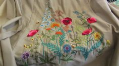 absolute gorgeous vintage maxi skirt with crewel by vintagecornucopia on #Etsy