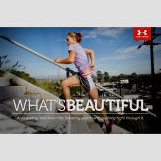 """Find the beauty in pushing yourself. Repin if you want a $ 250 Under Armour Gift Card to be this week's prize in the """"Fall Over the Moon"""" Sweepstakes. For complete details and to enter visit www.facebook.com/overthemoonmilks/app_420599617999820."""