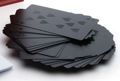 Alexander Wang - Black-on-Black Playing Cards with Embossed Case