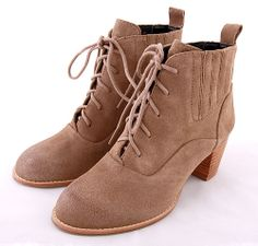 Stevie Kicks Boots #milkandhoneyny #fall #fashion #cute #adorable #retro #style #love #womens #shopping #shop #boutique #shoes #dolcevita #laceup #taupe #brown #tan #booties #ankleboots