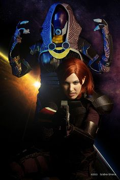 Viverra Cosplay as Fem Sheppard and Ayriath as Tali'Zorah from Mass Effect | Flickr - Photo Sharing!