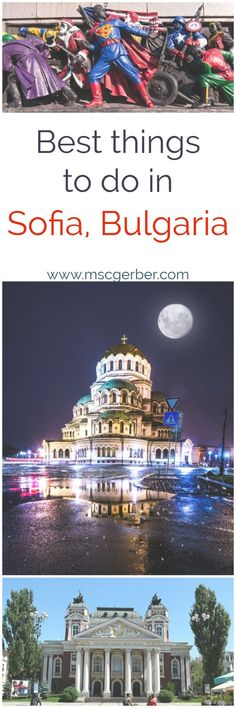 It doesn't matter if you already planned your next travel trip or not: Sofia is an excellent choice for every traveller and in my opinion a bucket list destination everybody should've seen. In this travel guide from Sofia I will tell you the best things Europe Travel Guide, Europe Destinations, Travel Guides, Backpacking Europe, Budget Travel, Travelling Europe, Ursula, Travel Goals, Travel Trip