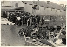 Auction sale of scrap iron by the City at 15th & Harrison, Febuary 10, 1915 by San Francisco Public Library, via Flickr