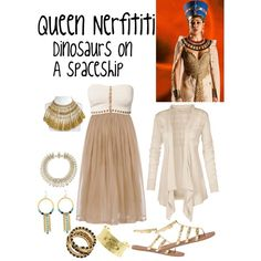 Queen Nerfititi dinosaurs on a spaceship