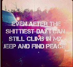 I always feel better when I get to drive my Jeep Cherokee! Jeep quotes / jeep wrangler / it's a jeep thing / jeep girl Jeep Meme, Jeep Jk, Jeep Rubicon, Jeep Truck, Jeep Wrangler Unlimited, Jeep Humor, 4x4 Trucks, Ford Trucks, Land Rovers