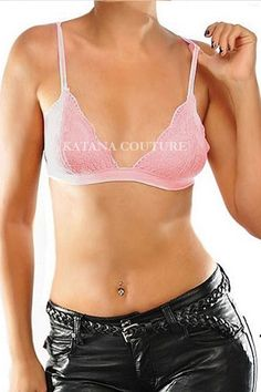 d9f3f6d3cce Triangle Allover Lace Bralettes