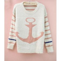 Pirate hook anchors thick loose sweater
