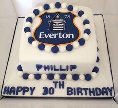 Everton cake Reposteria Pinterest Cake Birthday cakes and