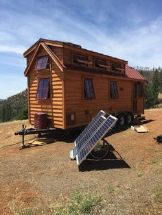 "A Cypress 24 Horizon ""Fisher""tiny house designed by Tumbleweed Tiny House Company. Owned and shared by Elizabeth Hernandez-Jones."