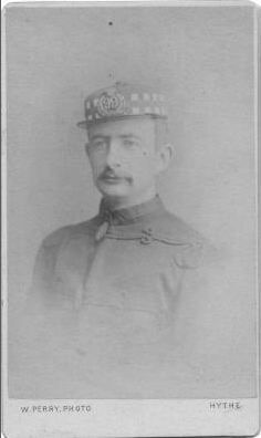 Officer with forage cap and patrol jacket pre-1881,  Duke of Edinburgh's 99th (Lanarkshire)