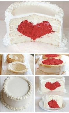 Cute valentines day cake.