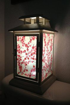 Romantic Cherry Blossom Lantern by MyArtLovePassion on Etsy, $100.00