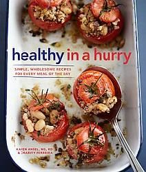 This solution-oriented cookbook targets 30 super healthy foods and shows you how to make the most of them in delicious dishes, any time of the day. Organized b...http://www.overstock.com/Books-Movies-Music-Games/Healthy-in-a-Hurry-Simple-Wholesome-Recipes-for-Every-Meal-of-the-Day-Hardcover/5944141/product.html?CID=214117 $19.47