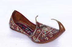 Indian / Pakistani Punjabi Womens / Men's Handmade Shoe (Khussa) Bridal / Wedding Shoes Ø These are Punjabi style Jutti for Men/Women. Ø