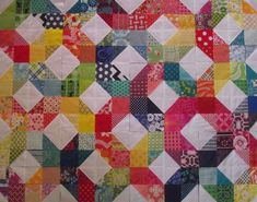 Life's Rich Pattern: The One with Lots of Colour. 'Patchwork Wheel' block tutorial at http://www.dontcallmebetsy.com/2012/03/patchwork-wheel-block-tutorial.html