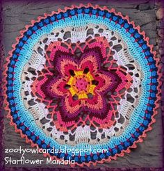 Pinteresting Projects: free mandala crochet pattern by Zooty Owl's Crafty Blog on LoveCrochet