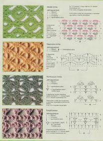 View album on Yandex. Crochet Designs, Crochet Patterns, Crochet Ideas, Bandana, Crochet Stitches Chart, Stitch Magazine, Crochet Blouse, Jelsa, Needle And Thread